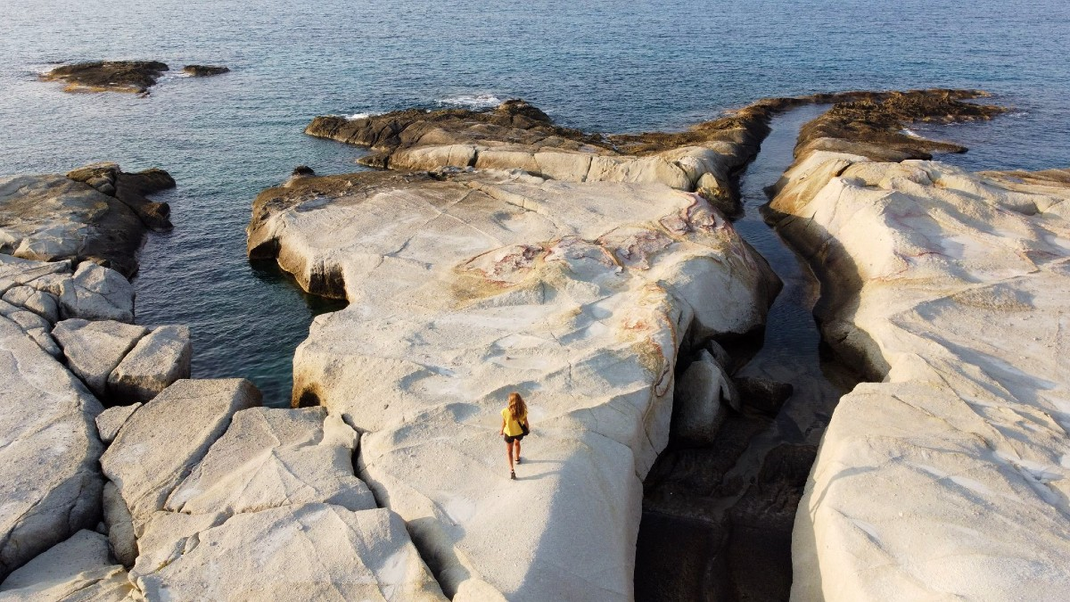Mandrakia beach, reasons to visit Milos Greece