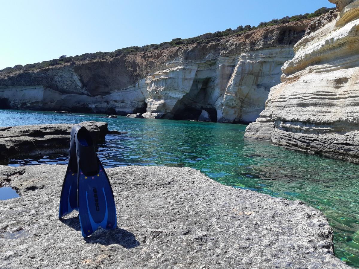Snorkeling at Kleftiko Milos Greece