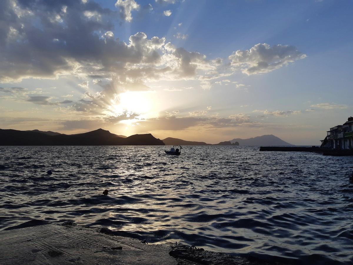 Sunset in Milos Greece