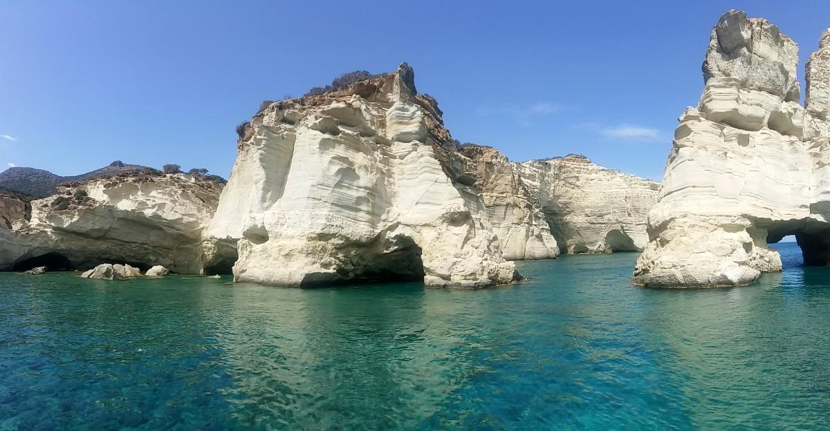 Kleftiko beach Milos Greece