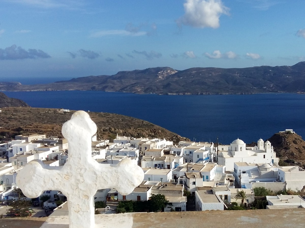 Milos Greece - The views from the castle in Plaka