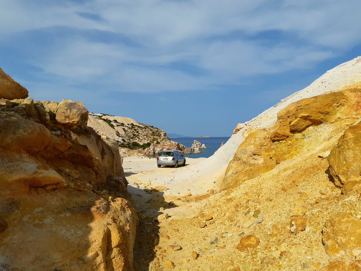 Reasons to visit Milos Greece - the volcanic landscapes