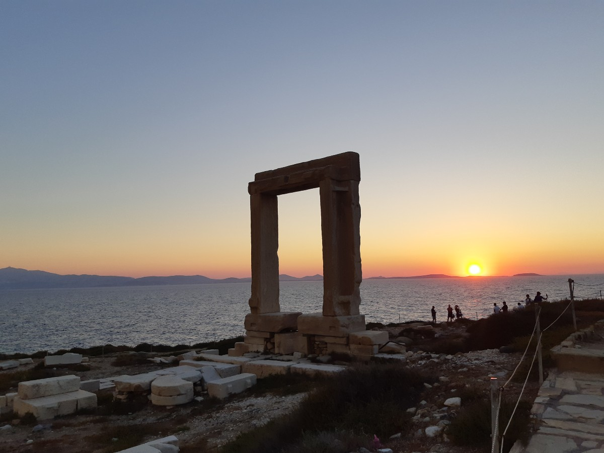 Sunset at the Portara Naxos