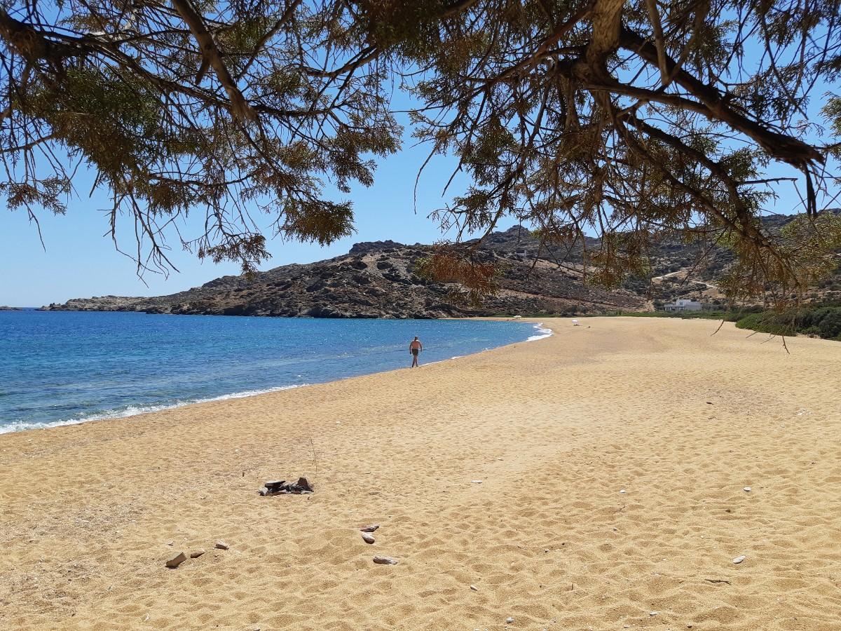 Beach in Ios island Greece