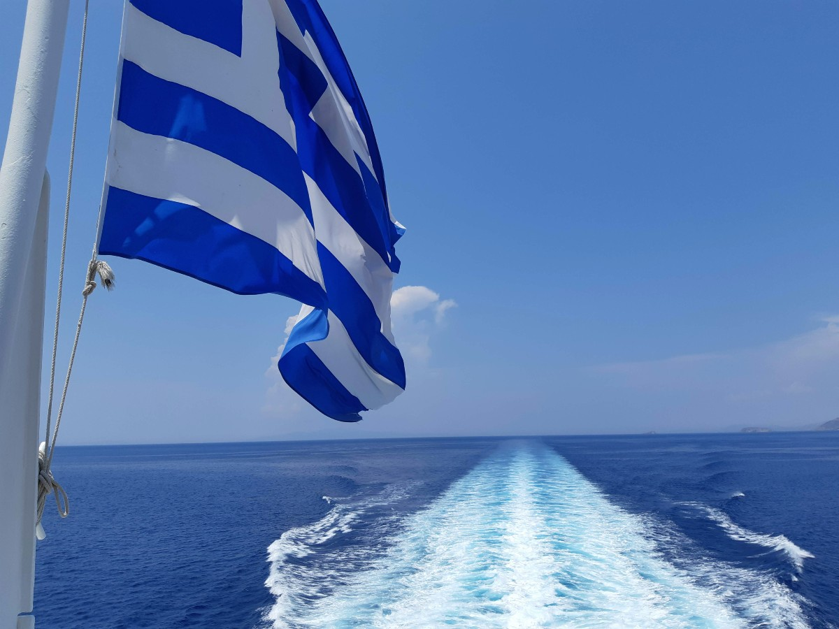 Travelling on a Greek ferry