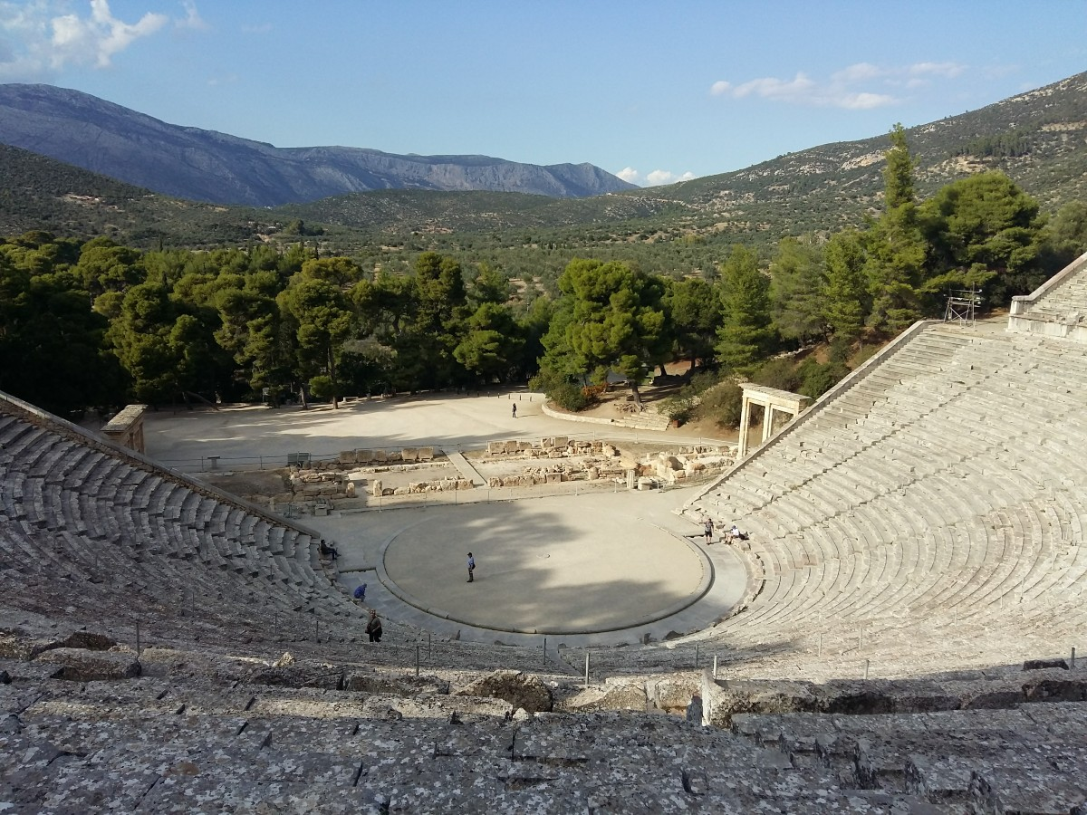 Epidaurus ancient theater in Greece