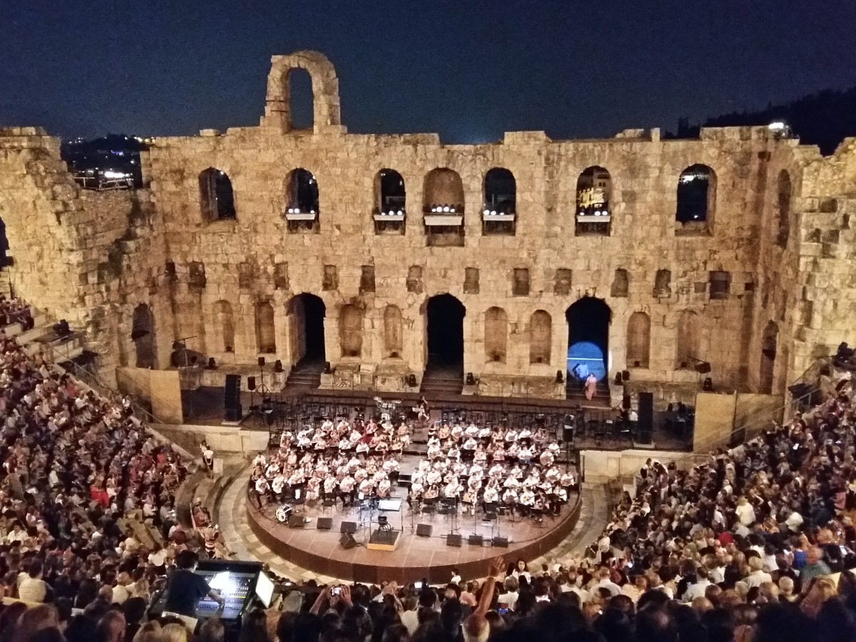 Herodion theater Athens Greece