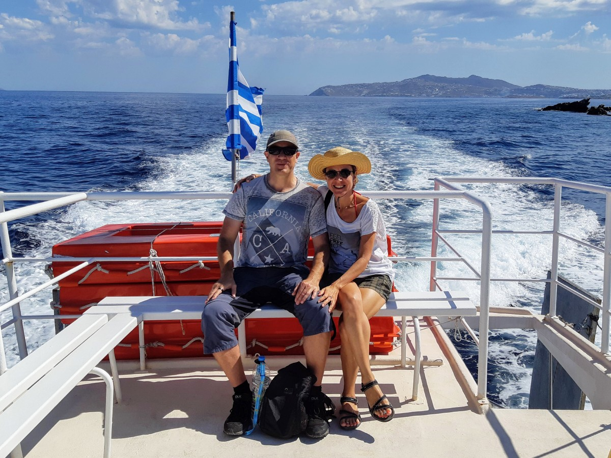 On the small ferry to Delos