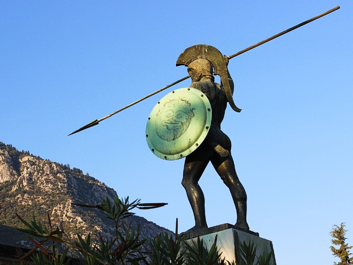 Movies in Greece - Statue of King Leonidas 300