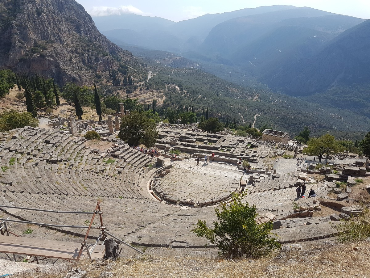 Delphi theatre in Greece