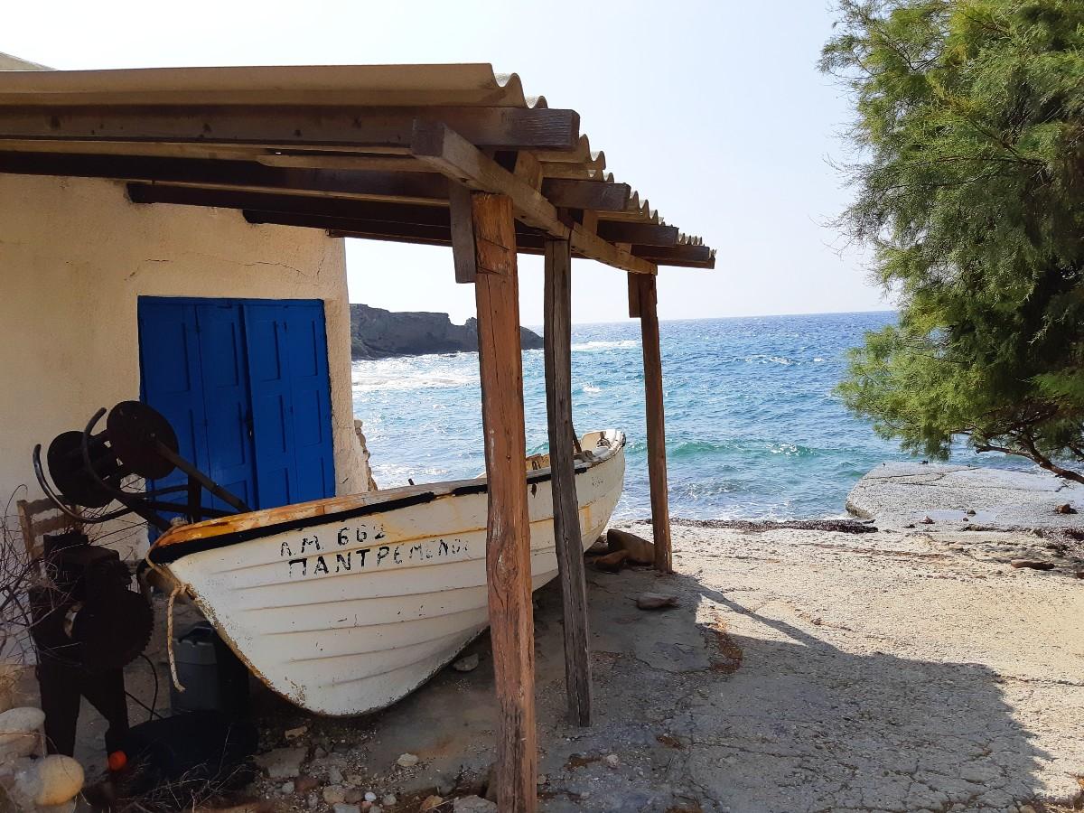 A boat by the sea in Milos Greece