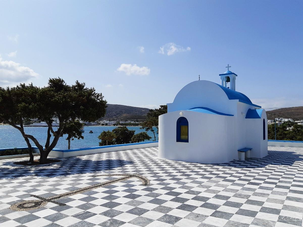 A church in Milos Greece