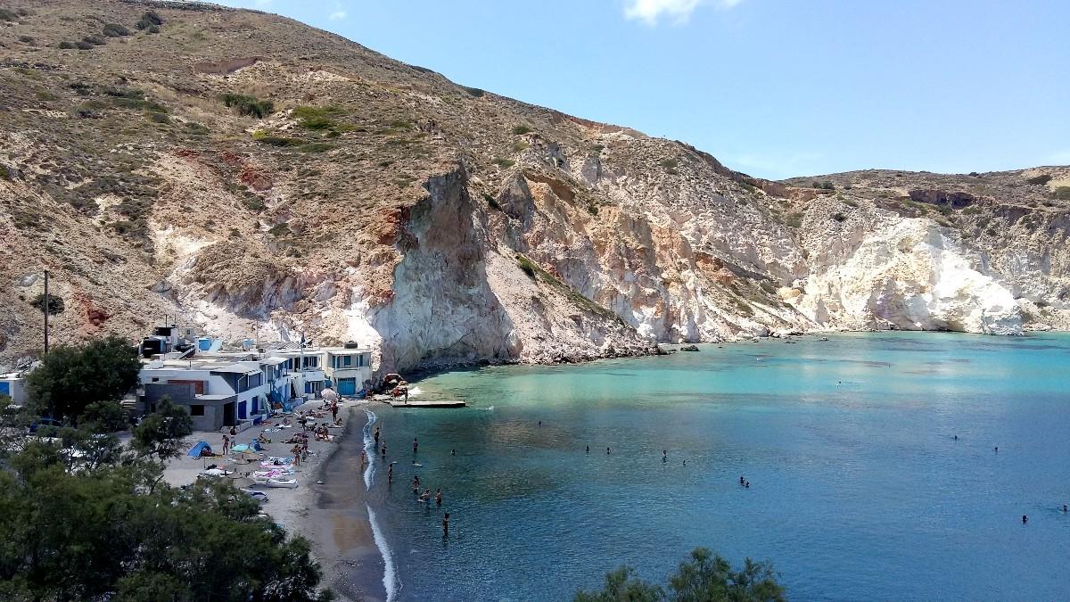 Firopotamos beach Milos Greece