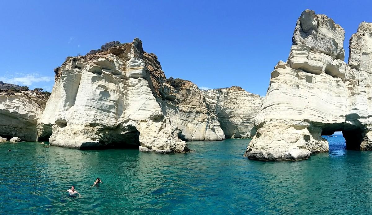 Milos Beaches - Kleftiko beach in Milos Greece