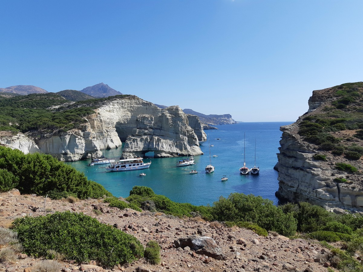 Summer in Kleftiko Bay, Milos Greece
