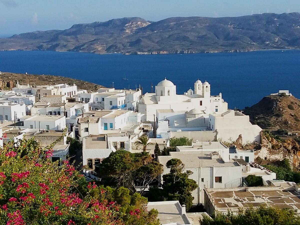 View of Milos Greece