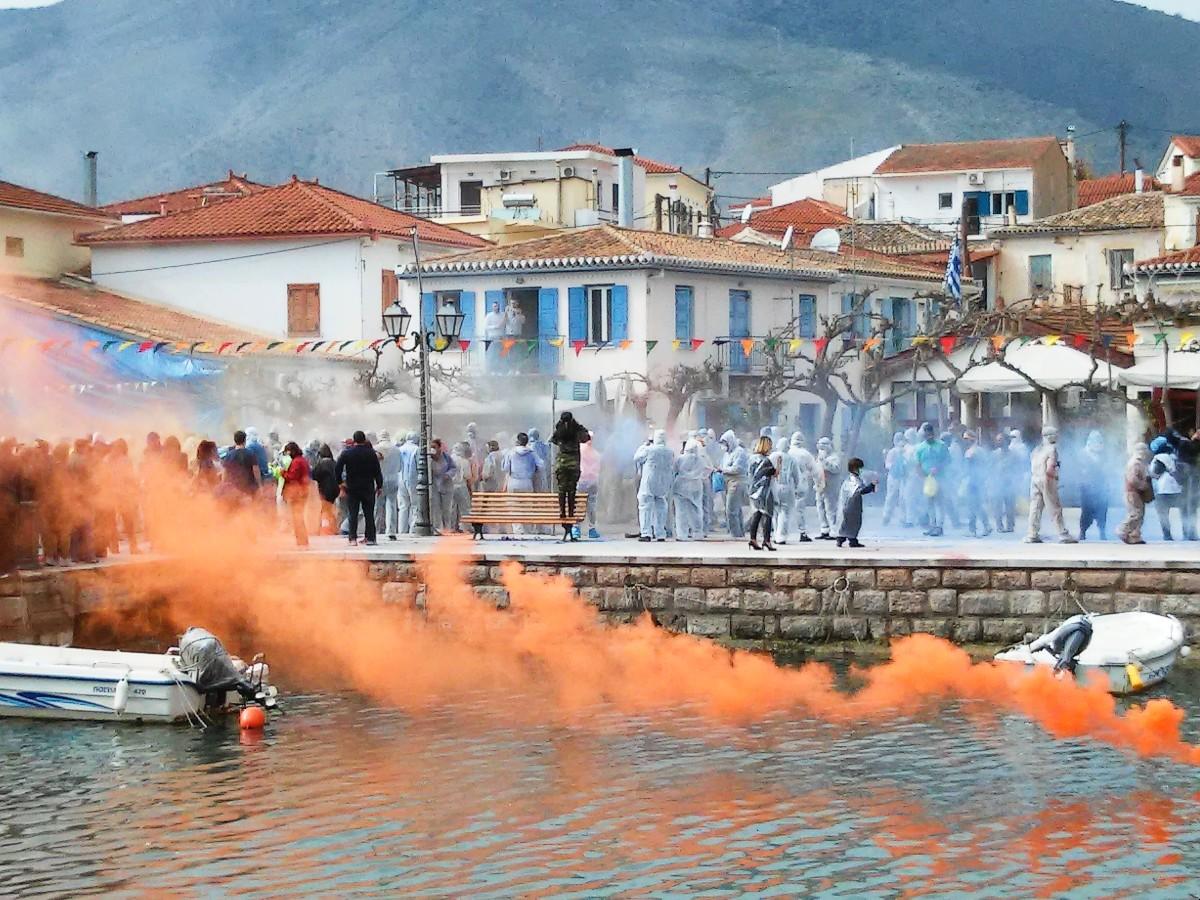Greece Kathara Deftera customs - Galaxidi celebrations