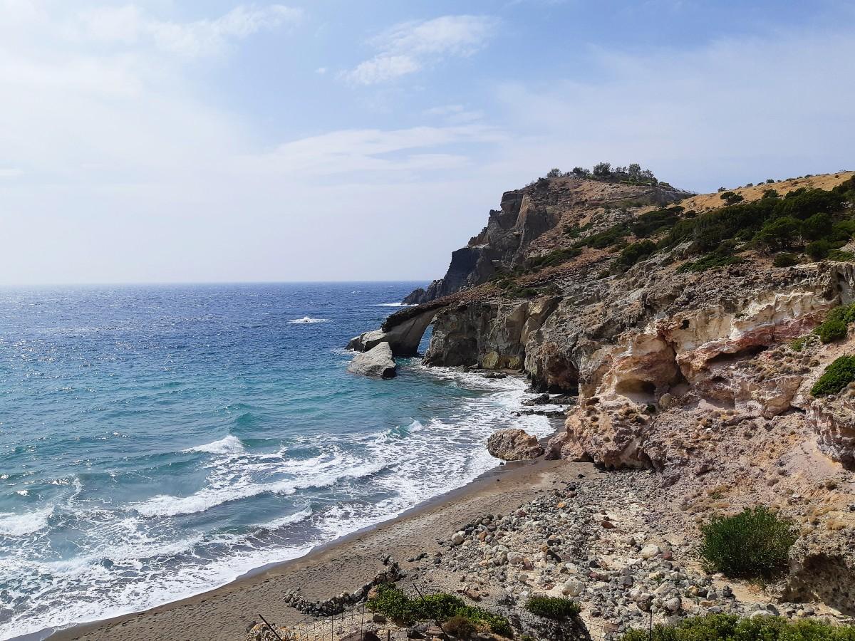 The wild Gerontas beach in Milos
