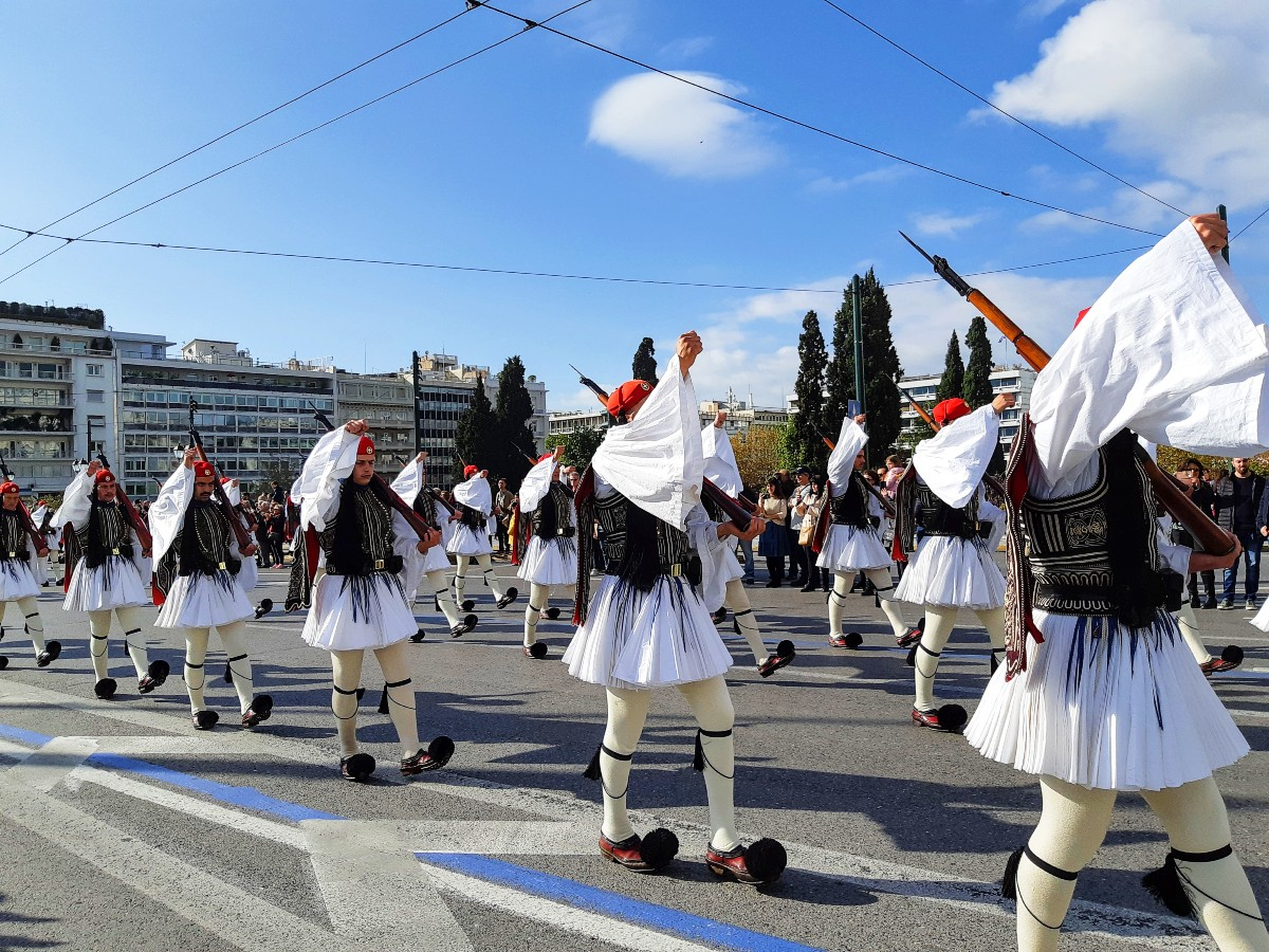Celebrating the Oxi day in Greece