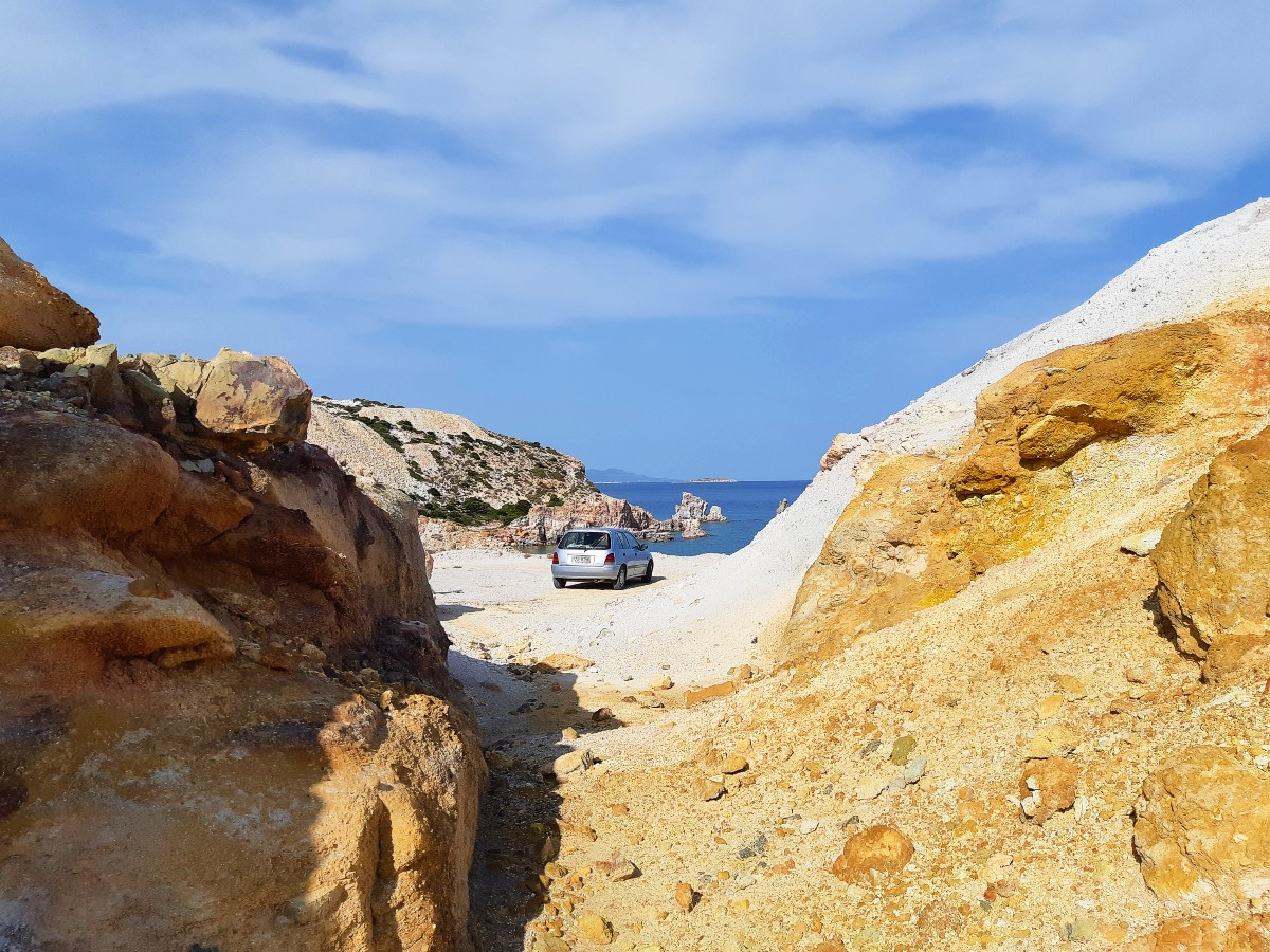 Our Toyota Starlet in Milos Greece