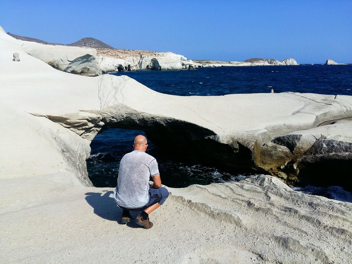 Sarakiniko beach in Milos island Greece