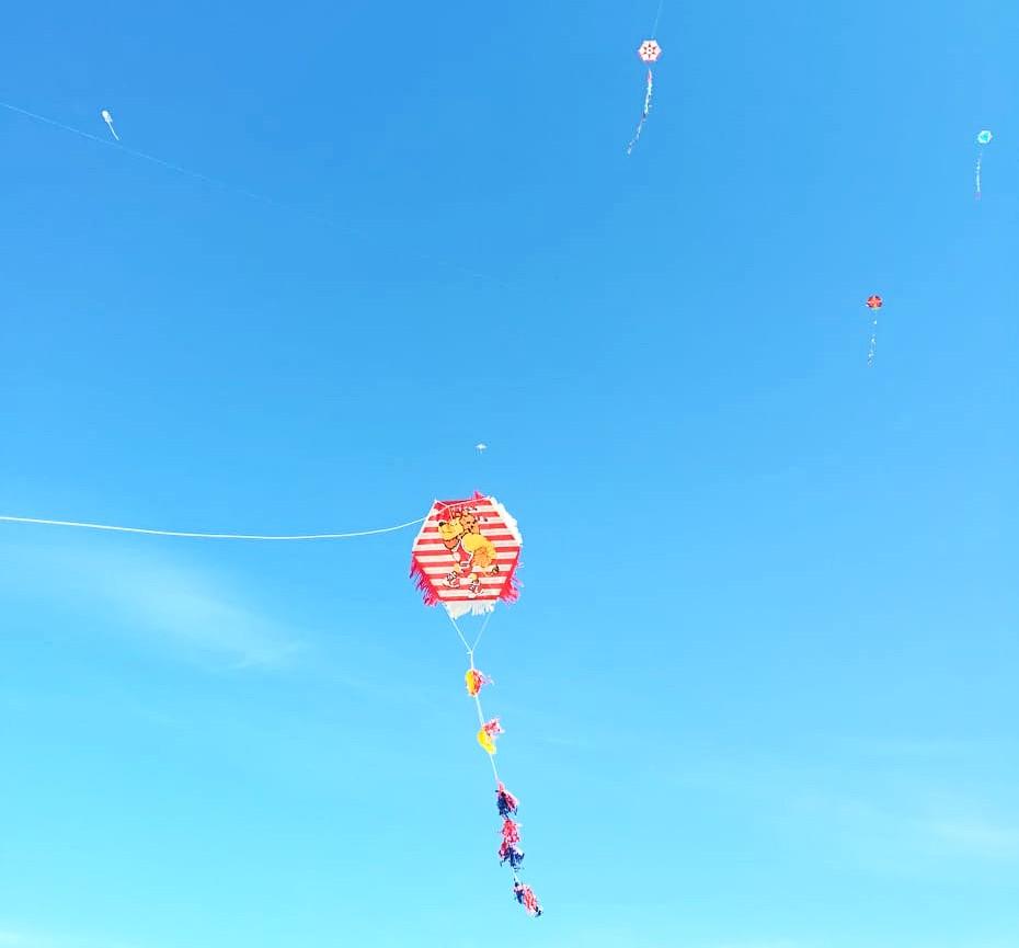 Flying kites on Kathara Deftera