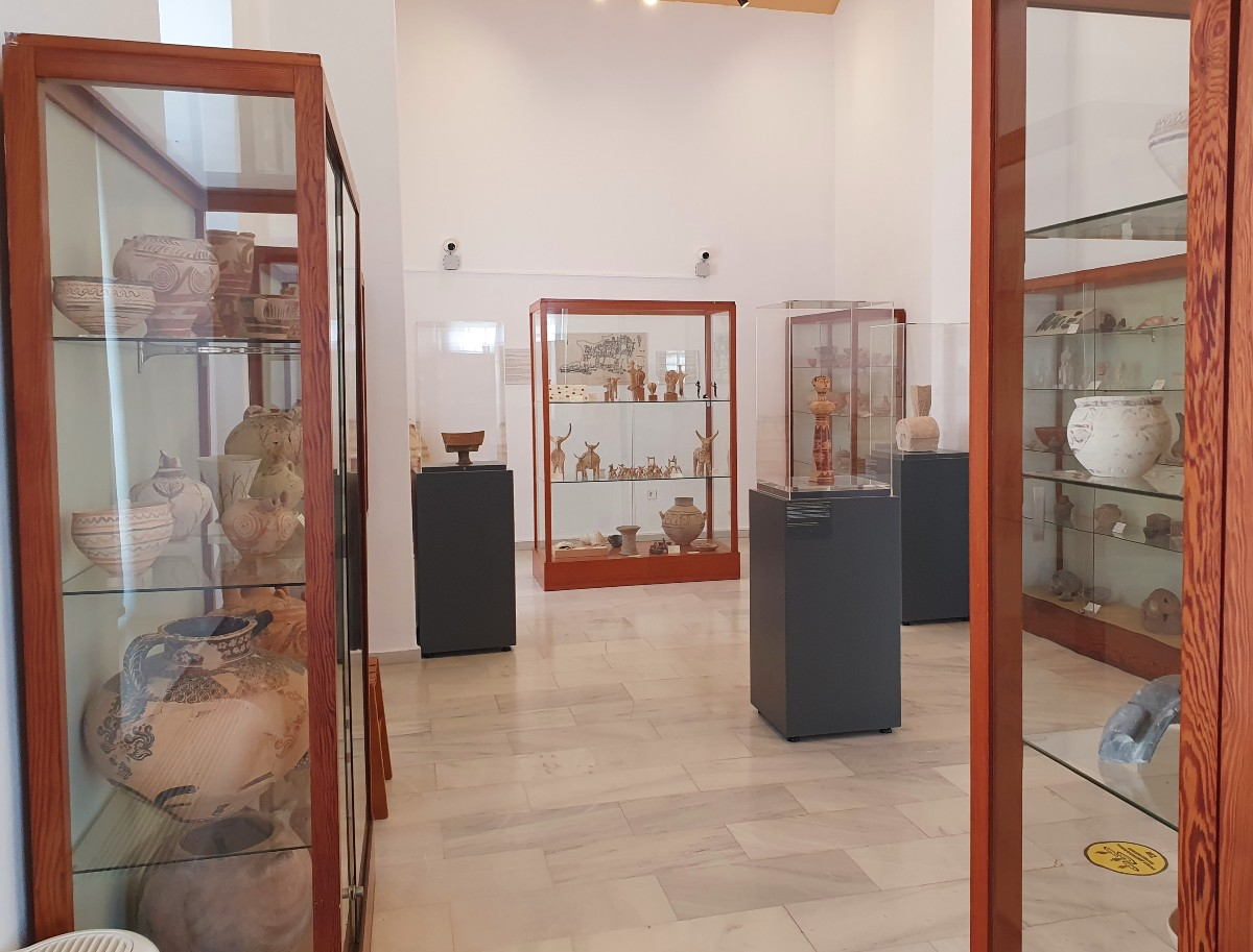Inside the Archaeological Museum in Milos