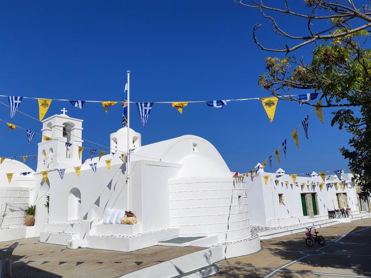 Churches in Milos Greece