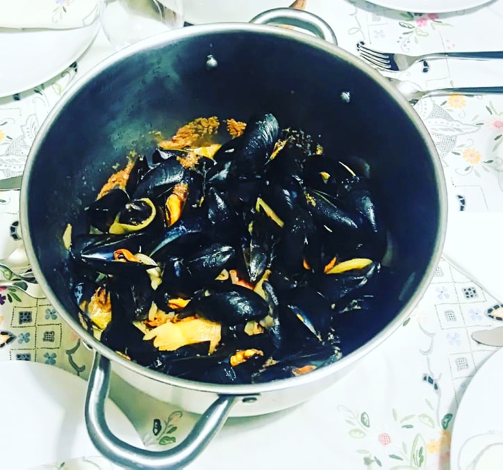 Steamed mussels for Kathara Deftera