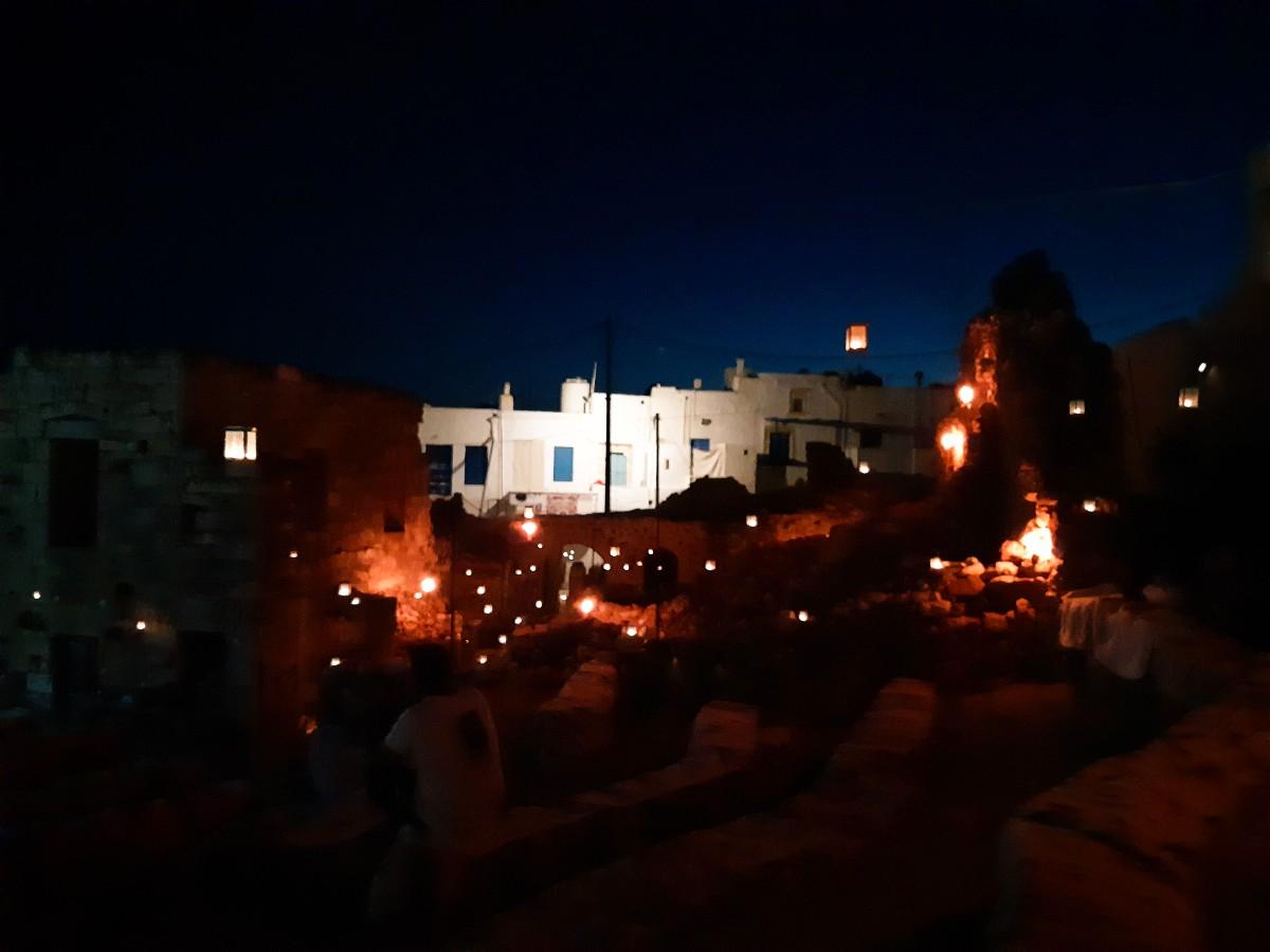 Outdoors cinema in Kastro - Kimolos Greece