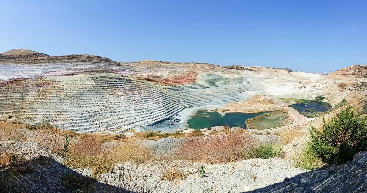 Quarries in Milos Greece