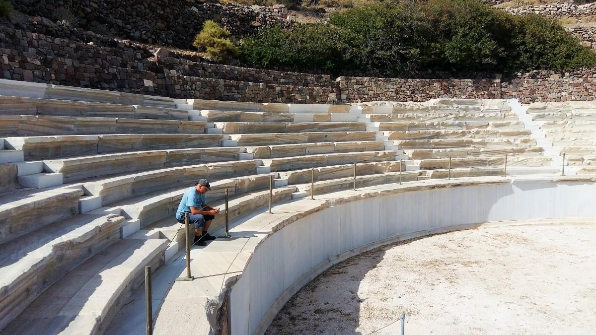 The ancient theatre in Milos island Greece