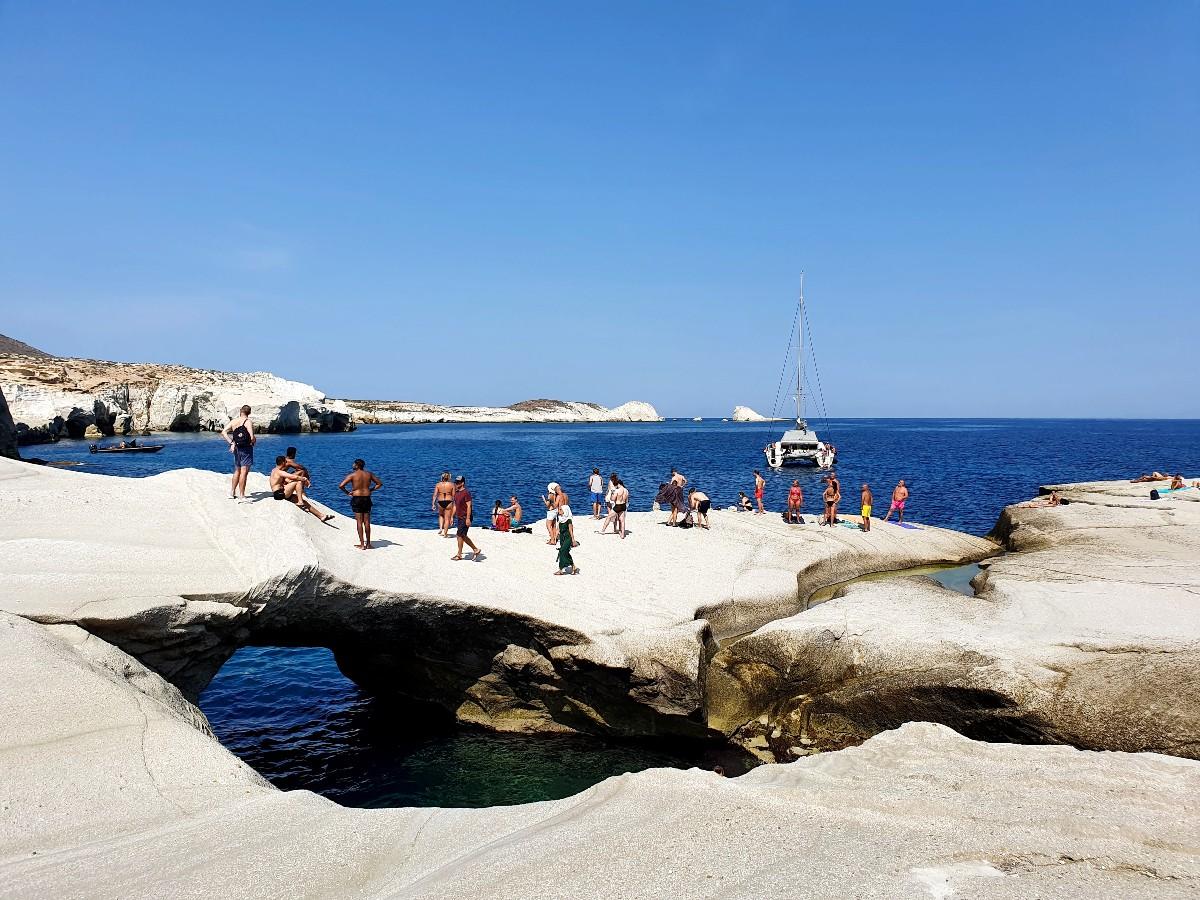 Milos Greece - Sarakiniko beach