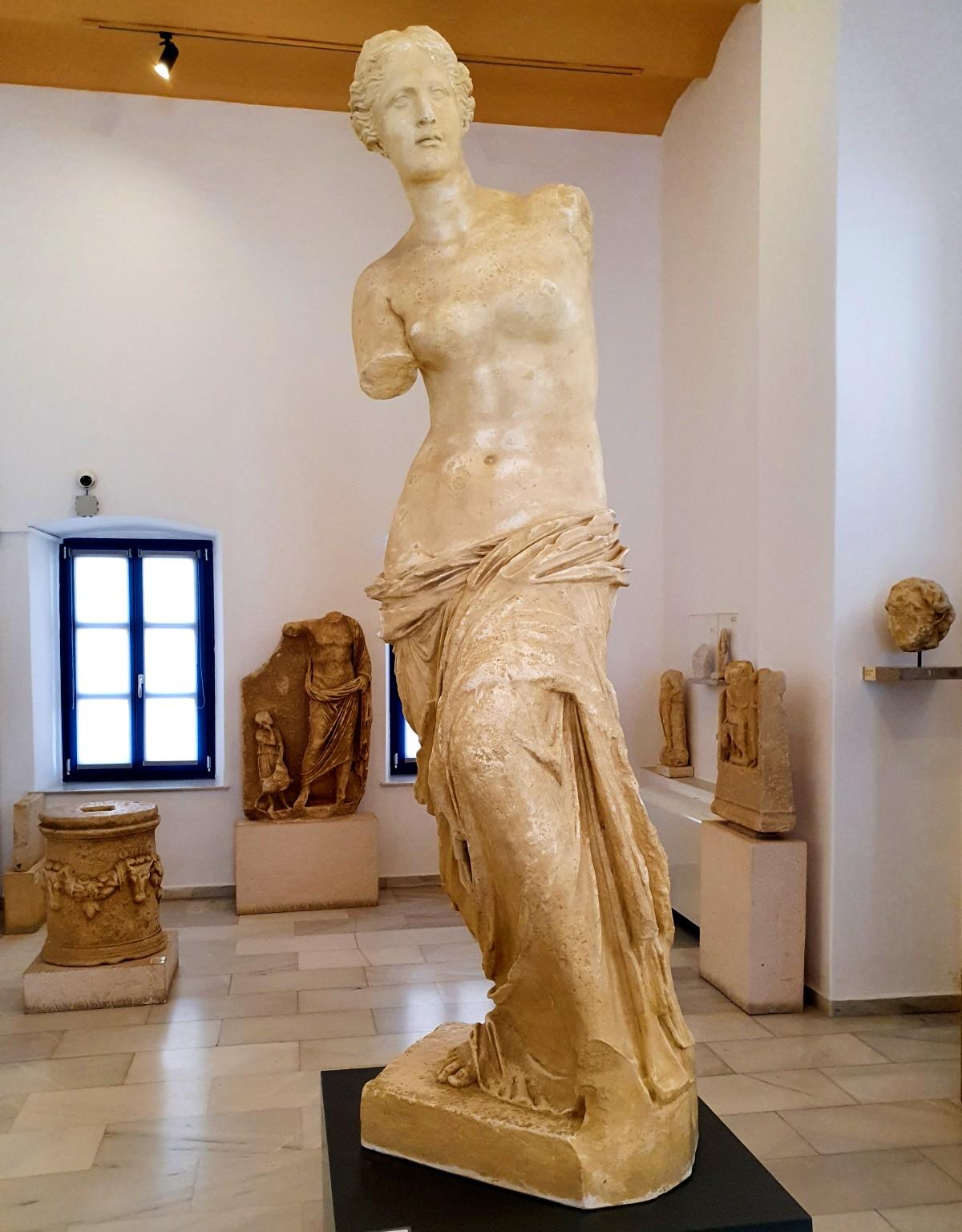 Venus of Milos in the Archaeological Museum of Milos