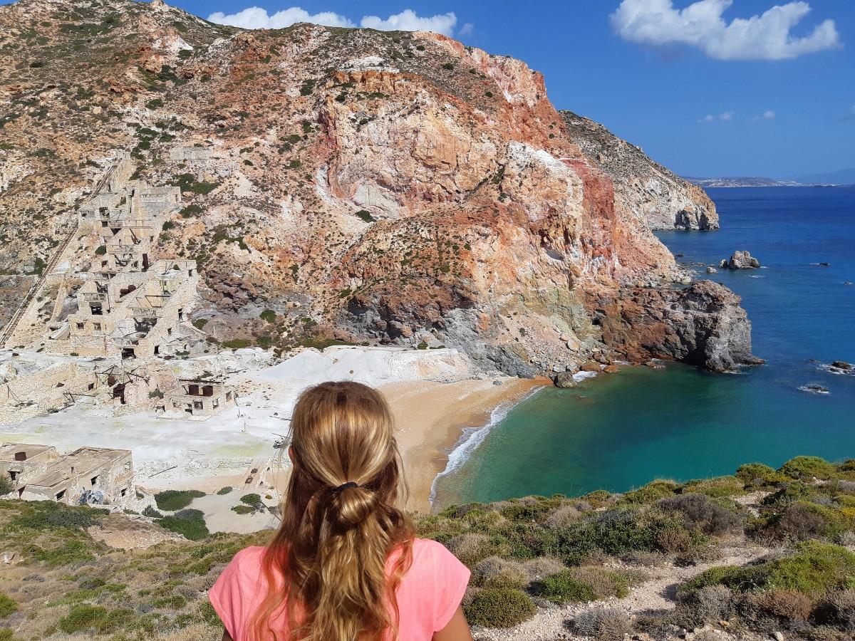Thiorichia sulphur beach Milos Greece