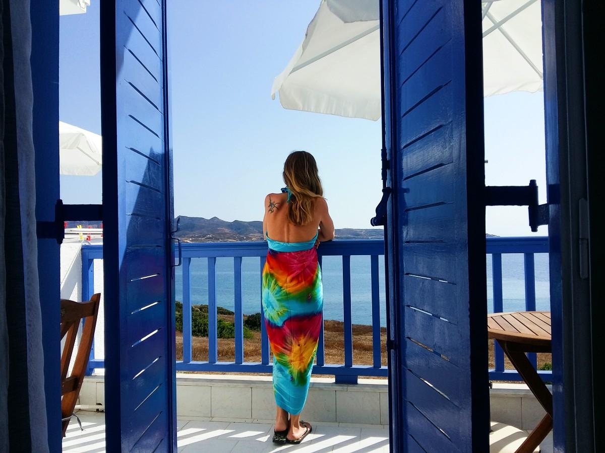 Vanessa in Milos Greece