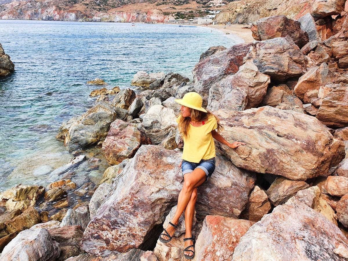 Real Greek Experiences in Paliochori Beach, Milos Greece