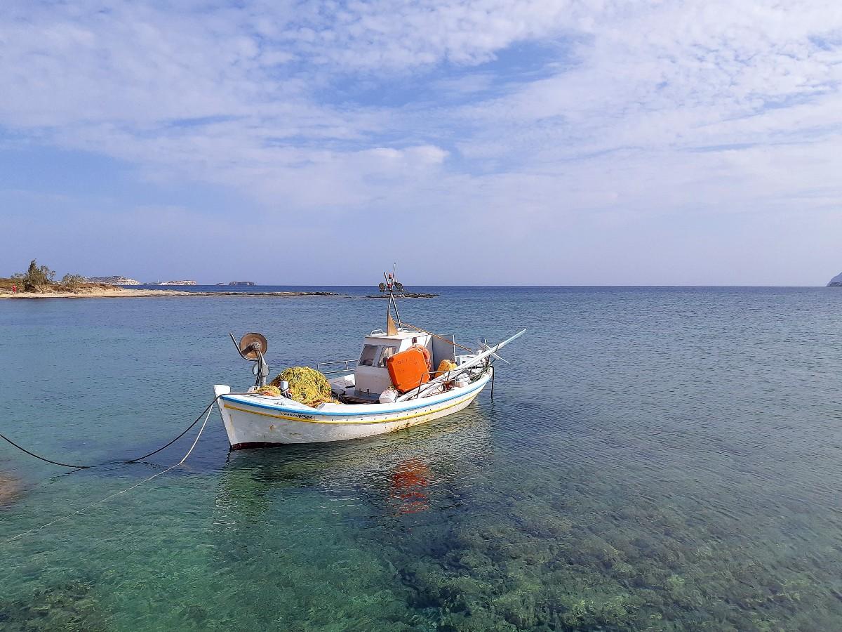 A boat in Kimolos Greece