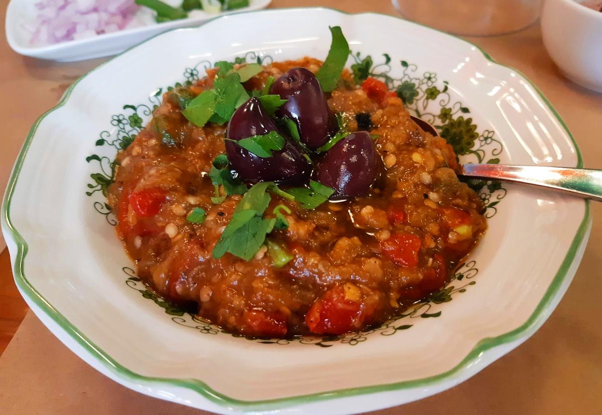 Greek food - Aubergine salad