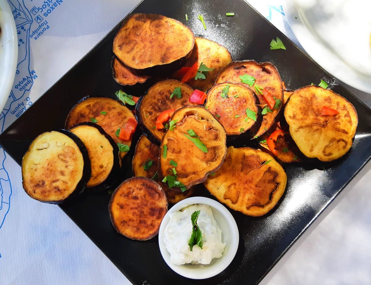 Greek food fried vegetables