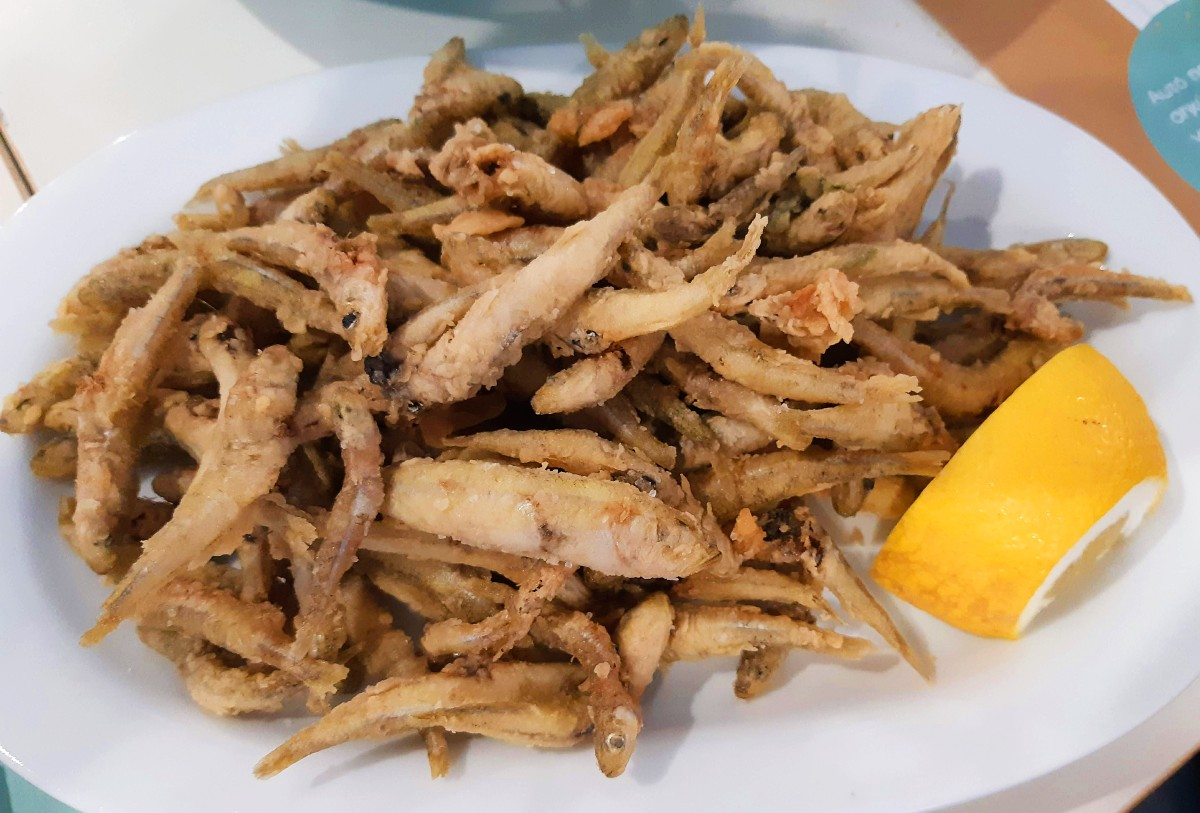 Food in Greece - Fried fish
