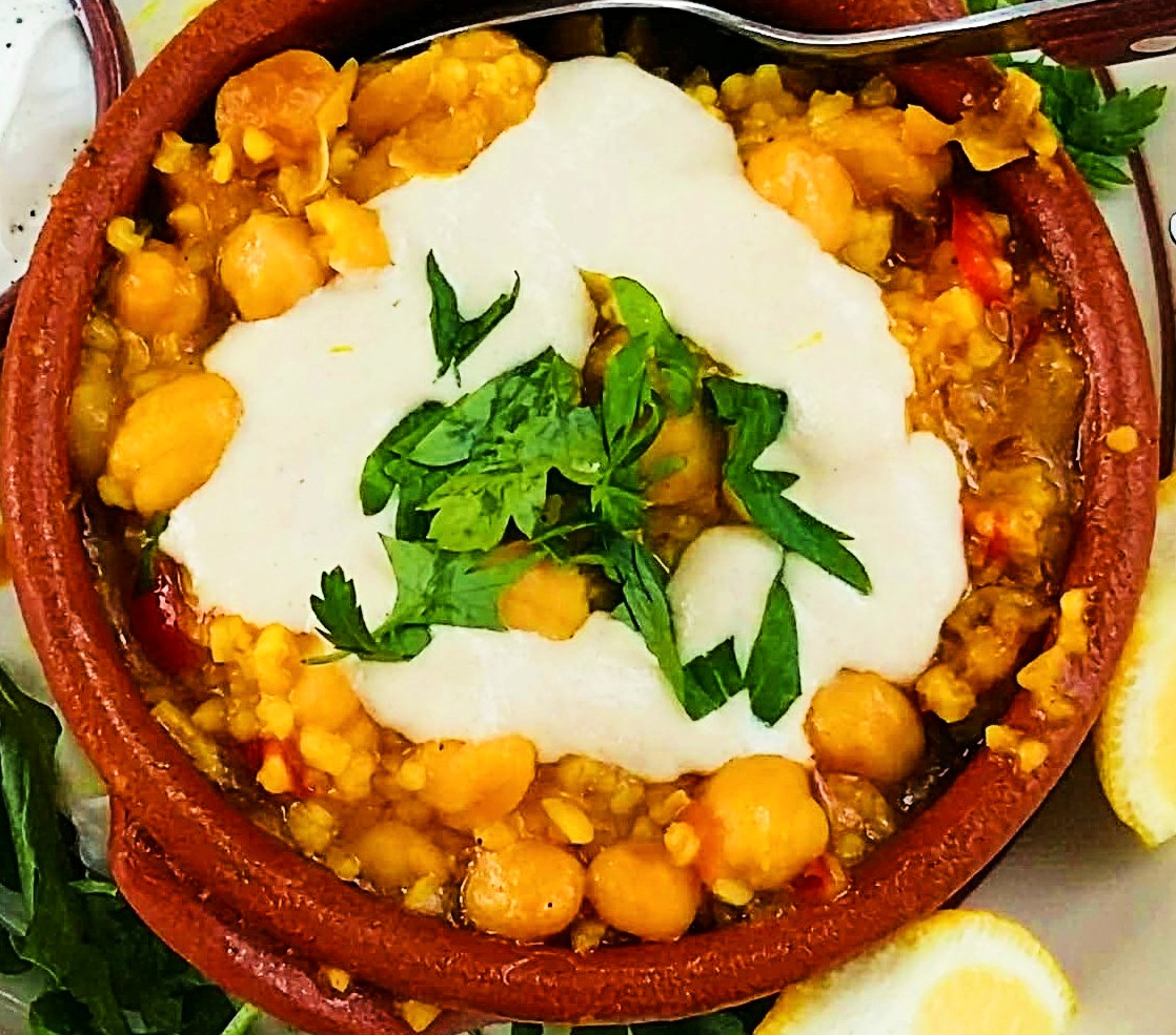 Greek chickpeas in the oven