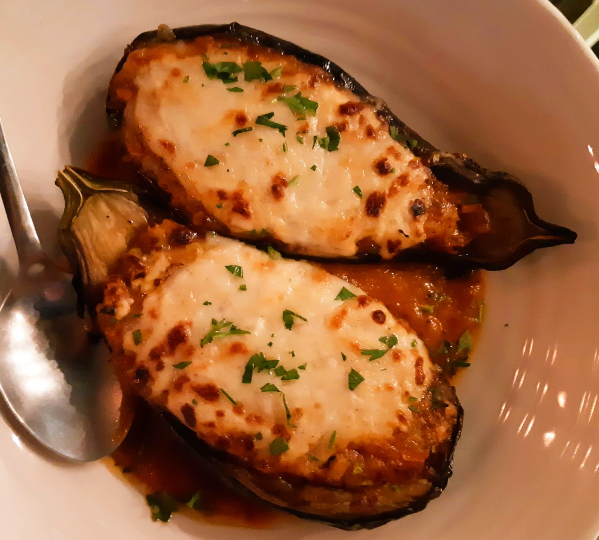Greek food - Aubergines in the oven