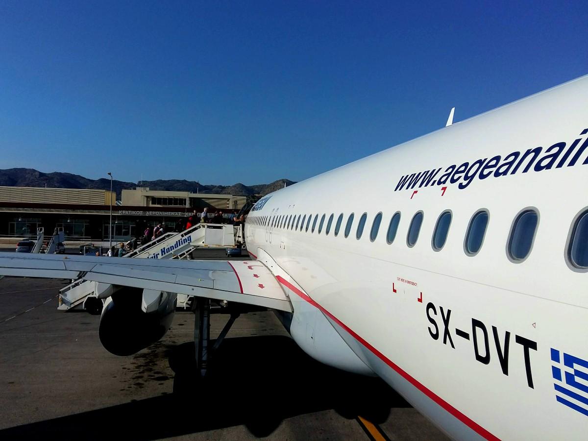 Travellers to Greece 2021 - Aegean flight