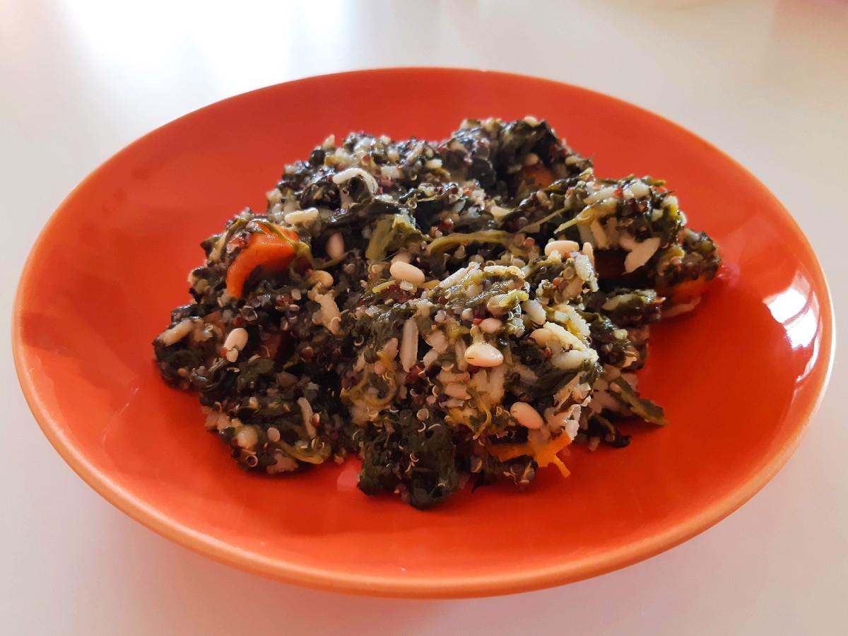 Spanakorizo Greek spinach with rice