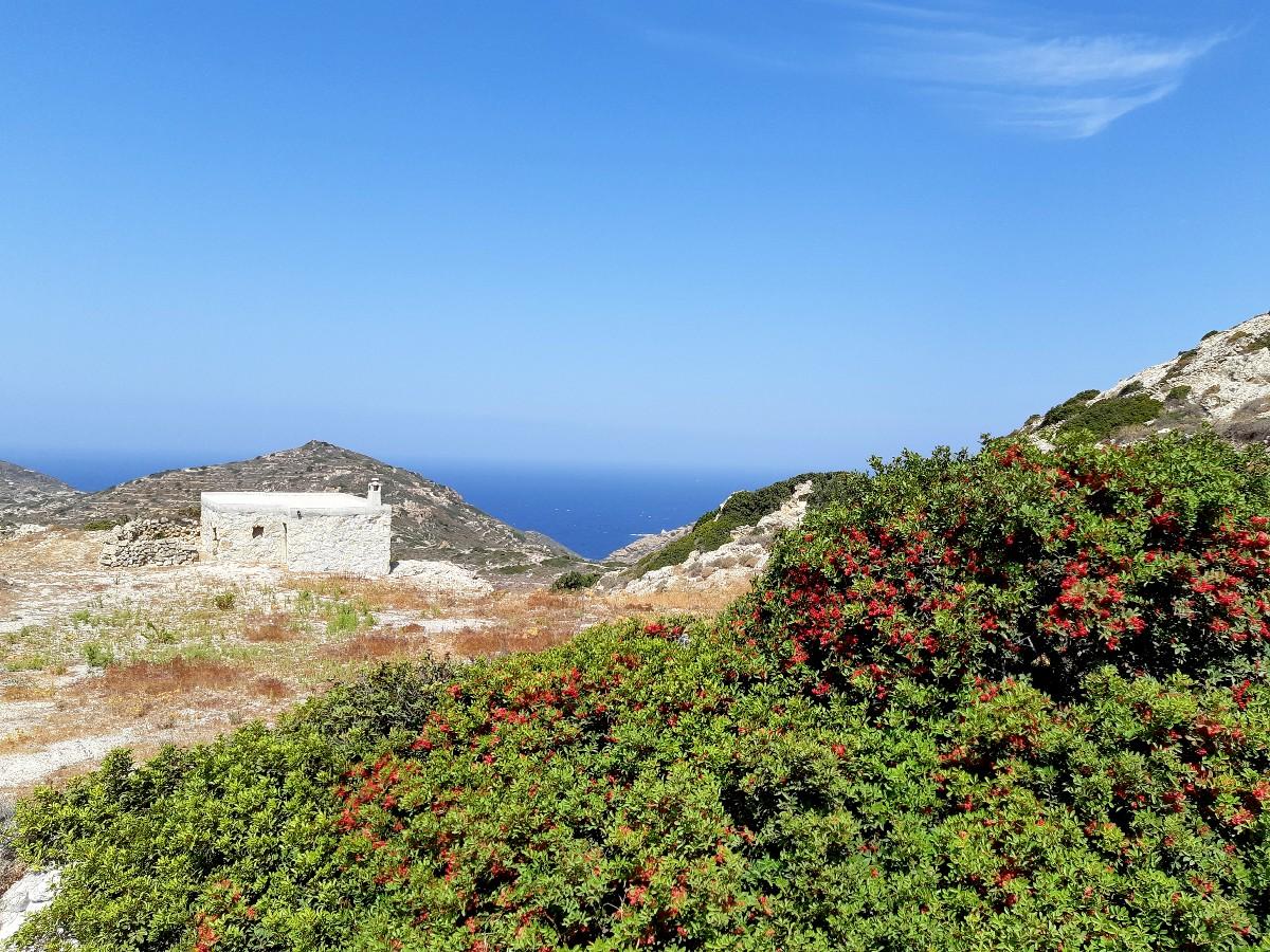 A hiking trail in Kimolos Greece