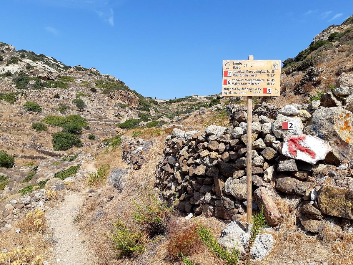 Hiking path in Kimolos Greece