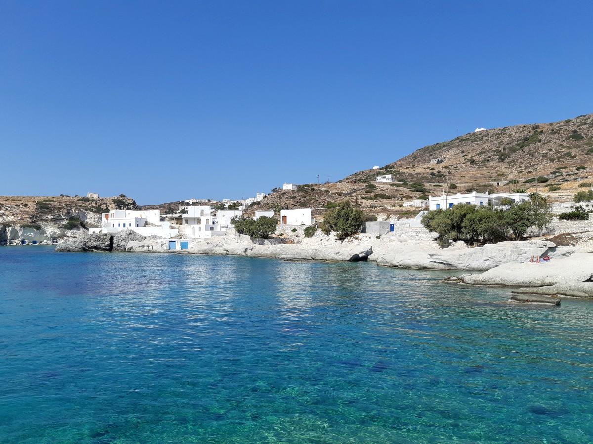 Fishing village in Kimolos Greece