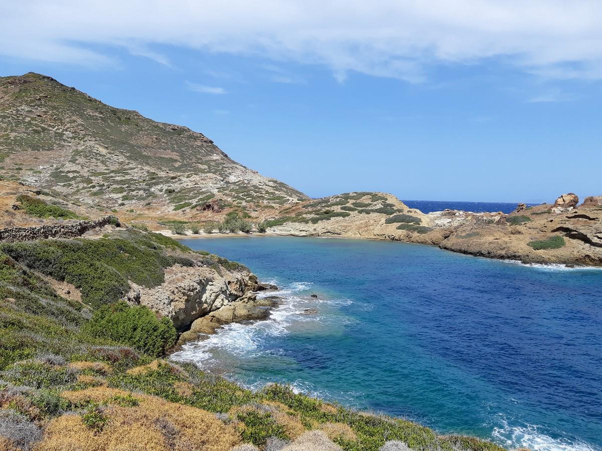 Hike to Soufi beach in Kimolos Greece