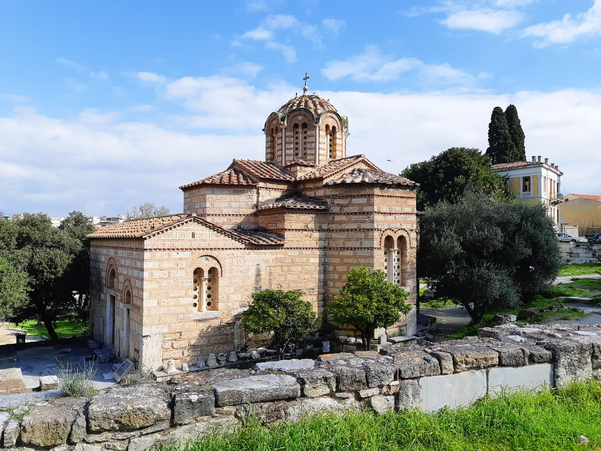 World Heritage Day - Byzantine church in Athens Greece
